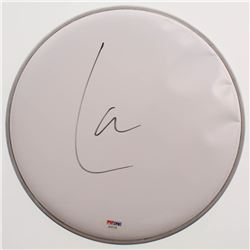 "Lars Ulrich Signed 10.5"" Drumhead (PSA COA)"