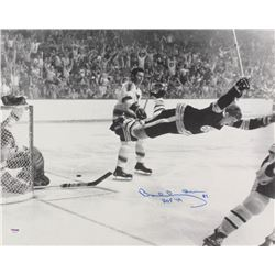 "Bobby Orr Signed Boston Bruins 1970 Stanley Cup 16x20 Photo Inscribed ""HOF '79"" (PSA COA)"