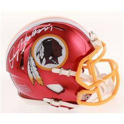 Dwayne Haskins Signed Washington Redskins Chrome Speed Mini Helmet (Radtke COA)