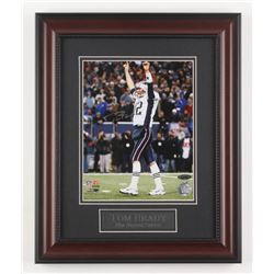 Tom Brady Signed New England Patriots 14x17 Custom Framed Photo Display (TriStar Hologram)