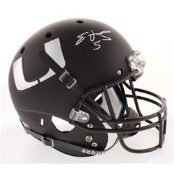 Edgerrin James Signed Miami Hurricanes Matte Black Full-Size Helmet (Radtke COA)