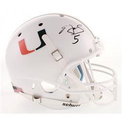 Edgerrin James Signed Miami Hurricanes Full-Size Helmet (Radtke COA)