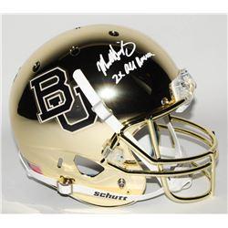 "Mike Singletary Signed Baylor Bears Full-Size Chrome Helmet Inscribed ""2X All American"" (Radtke Holo"