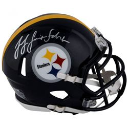 JuJu Smith-Schuster Signed Pittsburgh Steelers Speed Mini-Helmet (Fanatics Hologram)