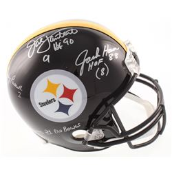 "Jack Lambert, Jack Ham,  Andy Russell Signed Pittsburgh Steelers Full-Size Helmet Inscribed ""HOF 90"""