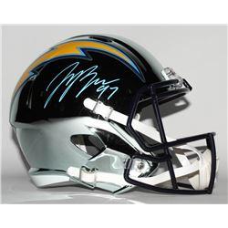Joey Bosa Signed Los Angeles Chargers Full-Size Chrome Speed Helmet (JSA COA)