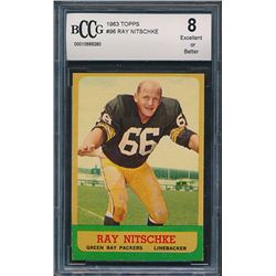 1963 Topps #96 Ray Nitschke RC (BCCG 8)