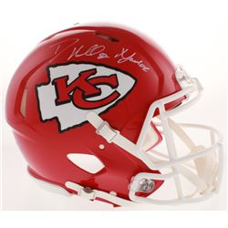 "Dante Hall Signed Kansas City Chiefs Full-Size Authentic On-Field Speed Helmet Inscribed ""X Factor"""