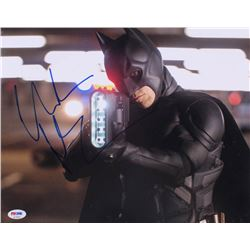 "Christian Bale Signed ""The Dark Knight Rises"" 11x14 Photo (PSA COA)"