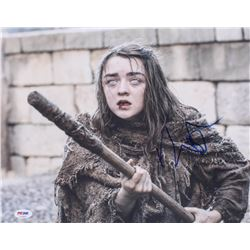 "Maisie Williams Signed ""Game of Thrones"" 11x14 Photo (PSA COA)"