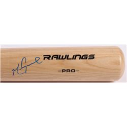 Mark Grace Signed Rawlings Pro Model Baseball Bat (JSA Hologram)