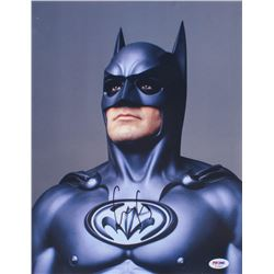 "George Clooney Signed ""Batman  Robin"" 11x14 Photo (PSA COA)"