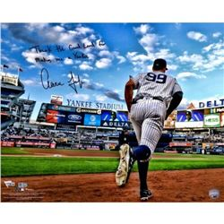 "Aaron Judge Signed Yankees ""Running out of the Dugout"" 16x20 Photo Inscribed ""Thank the Good Lord fo"