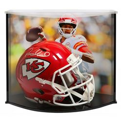 Patrick Mahomes Signed Kansas City Chiefs Full-Size Authentic On-Field Speed Helmet with Curve Displ