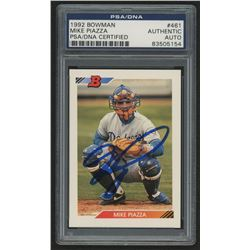 Mike Piazza Signed 1992 Bowman #461 RC (PSA Encapsulated)