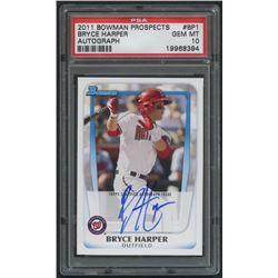 2011 Bowman Prospects #BP1 Bryce Harper Autograph (PSA 10)