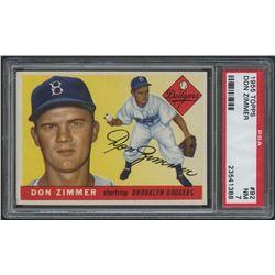 1955 Topps #92 Don Zimmer RC (PSA 7)