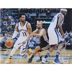 Mike Conley Jr. Signed Memphis Grizzlies 11x14 Photo (PSA COA)
