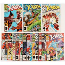 """Lot of (17) 1987-1988 """"The Uncanny X-Men"""" 1st Series Marvel Comic Books from #214-231"""