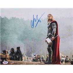 """Chris Hemsworth Signed """"Thor"""" 11x14 Photo (PSA COA)"""