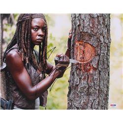 "Danai Gurira Signed ""The Walking Dead"" 11x14 Photo (PSA Hologram)"