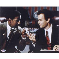 """Tom Hanks  Denzel Washington Signed """"Philadelphia"""" 11x14 Photo (PSA Hologram)"""