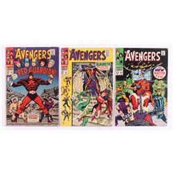"""Lot of (3) 1967-68 """"The Avengers"""" Marvel Comic Books with #43, #47  #54"""
