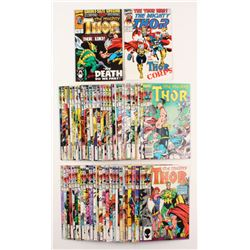 Lot of (57) 1984-1994 Thor Marvel Comic Books (1st Series: Journey Into Mystery)