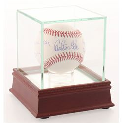 "Carlton Fisk Signed OML Baseball Inscribed ""HOF 2000"", ""3x SS"", ""72 AL ROY""  ""11x All-Star"" with Hig"