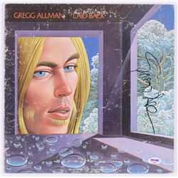 "Gregg Allman Signed ""Laid Back"" Record Cover (PSA COA)"