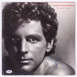 """Lindsey Buckingham Signed """"Law and Order"""" Record Cover (PSA COA)"""