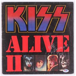 """Ace Frehley Signed """"Alive II"""" Record Cover (PSA COA)"""