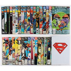 """Lot of (35) 1985-2001 DC """"Adventures of Superman"""" Comic Books with Issues #473, #467, #464, #437, #5"""