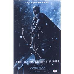 "Christian Bale Signed ""The Dark Knight Rises"" 12x18 Photo (PSA COA)"