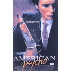 "Christian Bale Signed ""American Psycho"" 12x18 Photo (PSA COA)"