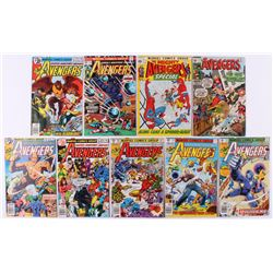 """Lot of (9) 1970-1979 Marvel """"The Avengers"""" 1st Series Comic Books with Issues #77, #137, #179, #184,"""