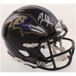 Mark Ingram Signed Baltimore Ravens Speed Mini Helmet (Beckett COA)