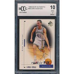 1998-99 SP Authentic #99 Dirk Nowitzki RC (BCCG 10)