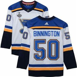 Jordan Binnington Signed St. Louis Blues Jersey (Fanatics Hologram)