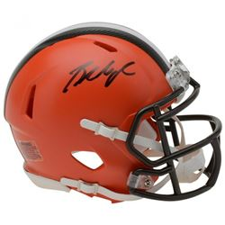 Baker Mayfield Signed Cleveland Browns Mini Speed Helmet (Fanatics Hologram)