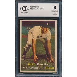 1957 Topps #62 Billy Martin (BCCG 8)