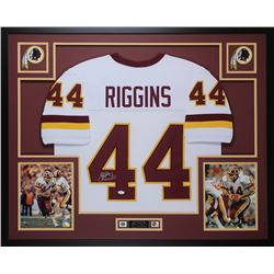 John Riggins Signed 35x43 Custom Framed Jersey (JSA COA)