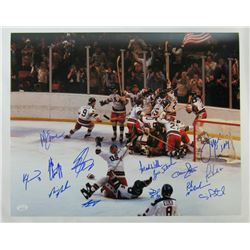 """1980 Team USA """"Miracle on Ice"""" 16x20 Photo Team-Signed by (15) with Jim Craig, Mike Eruzione, Craig"""