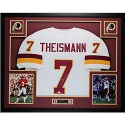 "Joe Theismann Signed 35x43 Custom Framed Jersey Inscribed ""83 MVP"" (JSA COA)"