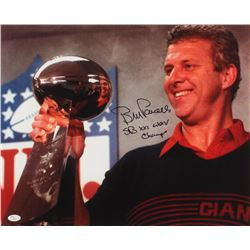 "Bill Parcells Signed New York Giants 16x20 Photo Inscribed ""SB XXI + XXV Champs"" (JSA COA)"