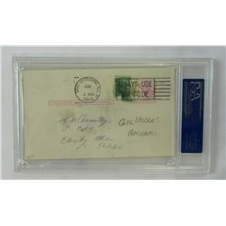 "Gil Hodges Signed Postcard Inscribed ""Best Wishes"" (PSA Authentic)"