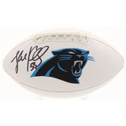 Luke Kuechly Signed Carolina Panthers Logo Football (JSA COA)