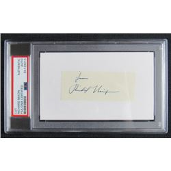"Richard Nixon Signed Signature Cut Inscribed ""From"" (PSA Encapsulated)"