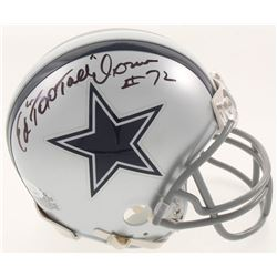 "Ed ""Too Tall"" Jones Signed Dallas Cowboys Mini Helmet (JSA COA)"