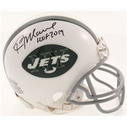 "Kevin Mawae Signed New York Jets Mini Helmet Inscribed ""HOF 2019"" (Beckett COA)"